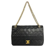 Second Hand Classic Flap Bag in Schwarz