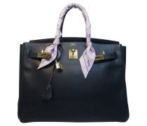 "Second Hand  ""Birkin Bag 35"" in Dunkelblau"