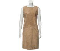 Second Hand Kleid aus Wildleder in Beige
