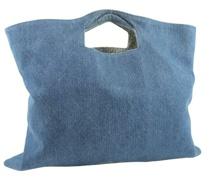 Second Hand Handtasche aus Jeansstoff in Blau