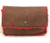 Second Hand Flap Bag aus Pelz in Braun