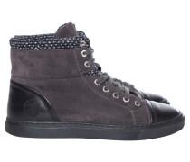 Second Hand Sneakers aus Wildleder in Grau