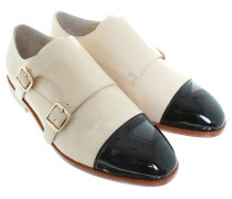 Second Hand  Barcley Monk Schuhe in Creme/Schwarz