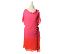 Second Hand  Zweifarbiges Kleid aus Seide