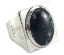 Second Hand  Silberring mit Obsidian-Stein