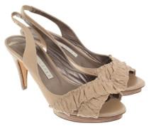 Second Hand  Leder-Sandaletten in Beige