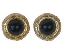 Second Hand Ohrring aus Vergoldet in Schwarz