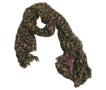 Second Hand Schal mit Leoparden-Print