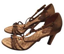 Second Hand Sandaletten mit Schmuck-Besatz