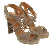 Second Hand Riemen-Sandale in Taupe