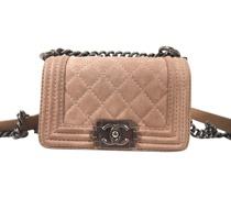 Second Hand Boy Bag aus Wildleder in Rosa / Pink