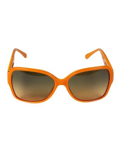 chanel damen second hand orangefarbene sonnenbrille. Black Bedroom Furniture Sets. Home Design Ideas