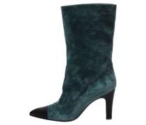 Second Hand Stiefel aus Wildleder in Blau