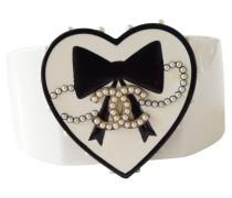 Second Hand Valentinstag Armband mit Herz & Perlen