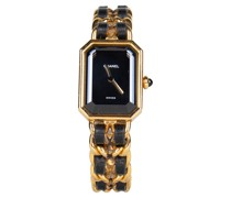 Second Hand Armbanduhr aus Stahl in Gold