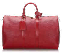 Second Hand Keepall 45 aus Leder in Rot