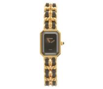 Second Hand Armbanduhr in Schwarz/Gold