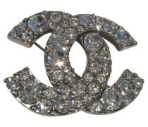 Second Hand Brosche CC Logo mit XL Strasssteinen