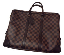 "Second Hand ""Porte Documents Damier Ebene Canvas"""