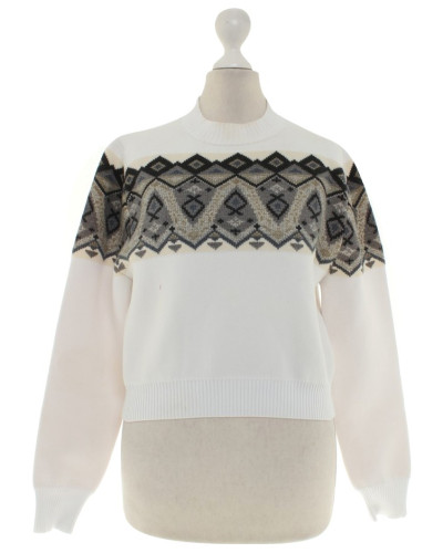 Second Hand  Pullover mit Strick-Muster