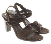 Second Hand  Sandaletten aus Veloursleder