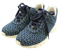 Second Hand Sneakers aus Canvas in Blau