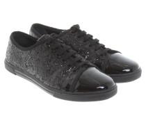 Second Hand Sneakers mit Glitzerbesatz