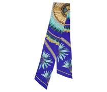Second Hand Schal/Tuch aus Seide in Blau
