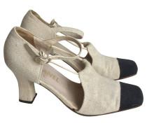 Second Hand Sandalen schwarz/beige