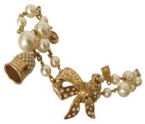 Second Hand Perlen-Armband mit Fingerhut und Druckknopf
