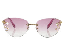 Second Hand  Sonnenbrille in Rosa