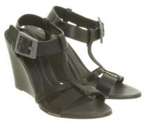 Second Hand Keil-Sandaletten in Schwarz