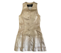 Second Hand Kleid aus Leder in Gold