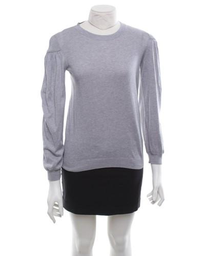 Second Hand  Jersey-Pullover in meliertem Grau