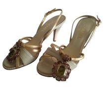 Second Hand Sandaletten aus Echsenleder
