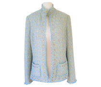 Second Hand Bouclé-Jacke in Hellblau