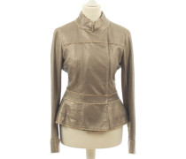 Second Hand Lederjacke in Metallic-Optik