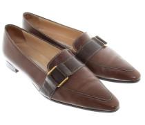 Second Hand Leder-Loafer in Braun