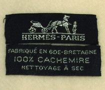 Second Hand Kaschmir-Decke mit Fransen