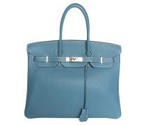 Second Hand Birkin Bag 35 Togo Jeans Bleu