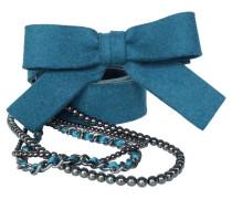 Second Hand Gürtel aus Leder in Blau