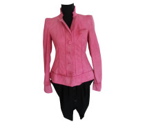 Second Hand Lederjacke in Pink