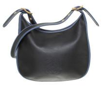 Second Hand Lederhandtasche in Nachtblau