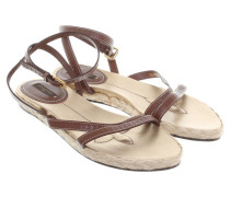 Second Hand Sandalen in Braun