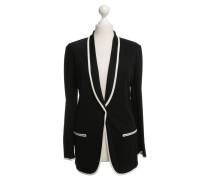 Second Hand Jacke in Schwarz-Weiß