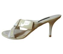 Second Hand Sandaletten aus Lackleder/Canvas