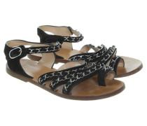 Second Hand Sandalen mit Kettenapplikationen