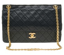 Second Hand Classic Flap Bag aus Leder in Schwarz