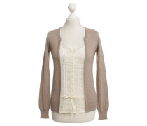 Second Hand  Strickjacke in Beige