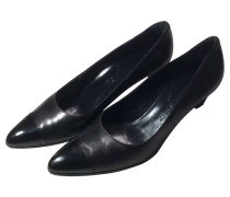 Second Hand Schwarze Leder-Pumps
